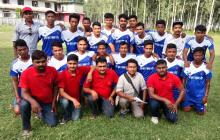 players with Team representatives from municipality
